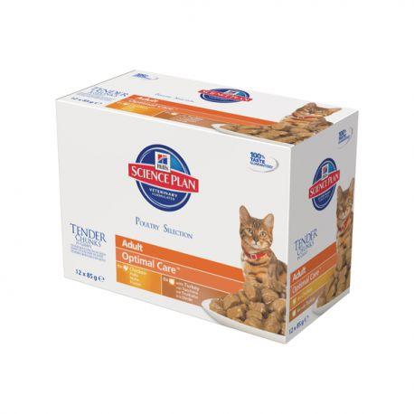 science plan feline adult optimal care maaltijdzakjes multipack gevogelte. Black Bedroom Furniture Sets. Home Design Ideas