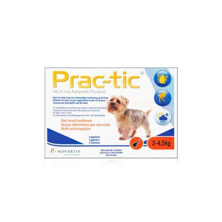 Prac-tic - tegen teken en vlooien bij honden
