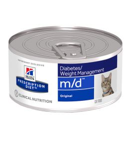 Hill's Prescription Diet m/d Feline Minced with Liver (blikken)