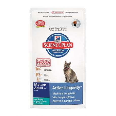 Science Plan Feline Mature Adult 7+ Active Longevity Tonijn