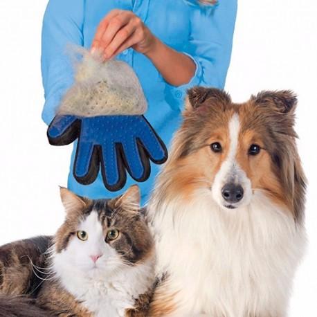 Verzorgings- en borstelhandschoen voor honden en katten