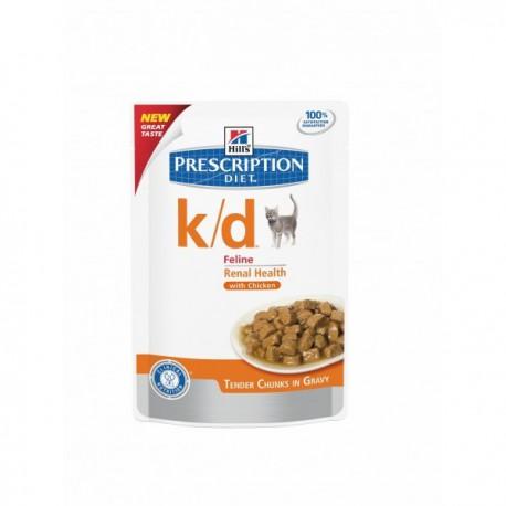 prescription diet k d feline maaltijdzakjes kip voor katten met nier of h. Black Bedroom Furniture Sets. Home Design Ideas